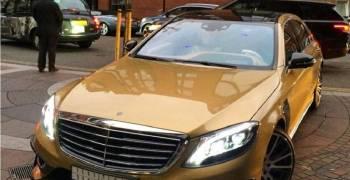 ظهور نسخة سعودية من مرسيدس اس 63 برابوس ذهبية في لندن