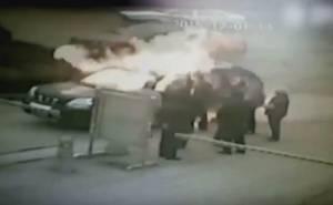 اشتعال سائق حتى الموت في انفجار سيارة +18