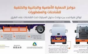 السلطات السعودية تحدد مواصفات حواجز الشاحنات للحد من الحوادث