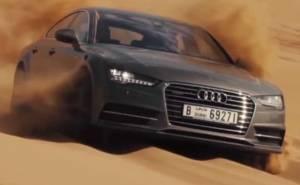 اودي A7 سبورت باك في صحراء الإمارات