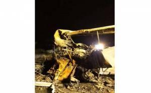 تصادم مروع وحريق في حادث على طريق القصيم