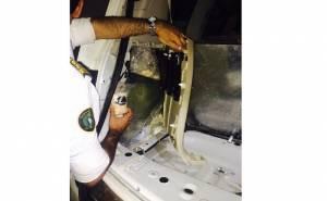 جمارك البطحاء تعثر على مخدرات في سيارة مهربين