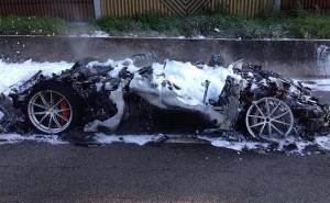 حادث اشتعال فيراري اف 12