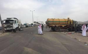 حادث تصادم جماعي في جموم بالسعودية