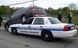 حادث سيارة شرطة
