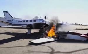 طيار سبعيني ينجو من حادث تصادم بطائرة أخرى أثناء هبوطه