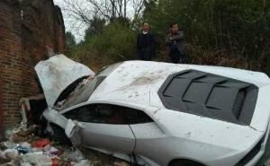 حادث لمبرجيني هوراكان في الصين