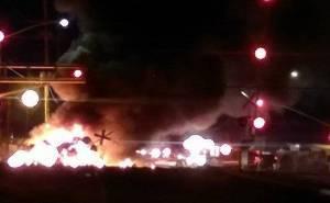 حريق قطار