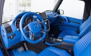 مرسيدس G500 4×4² مزودة بمقصورة زرقاء لا مثيل لها