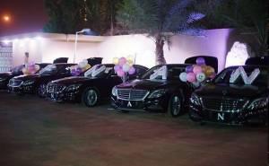 سيارات مرسيدس اس63 تحمل احرف اسم افنان