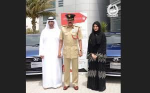 سيارتا هونداي من شرطة دبي لفائزين بالنقاط البيضاء