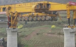 شاهد كيف تبنى الجسور في الصين
