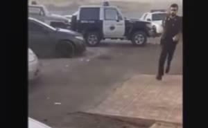 شاهد مداهمة الشرطة السعودية للمفحطين