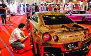 جي تي ار ذهبية ثمنها مليون دولار تظهر في أبوظبي