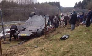 حادث جي تي ار في السباق