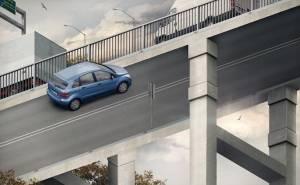 صورة خداع بصري على جسر