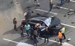 لحظة مصرع السائق الخاص للرئيس بوتين في حادث مروع