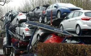 مجموعة من سيارات فورد تتعرض لحادث في المملكة المتحدة