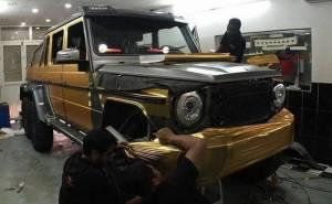 هكذا حصلت السيارات السعودية الفارهة على لونها الذهبي