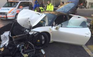 Teenager smashes Ferrari