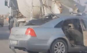 كابريس تصطدم بمؤخرة شاحنة