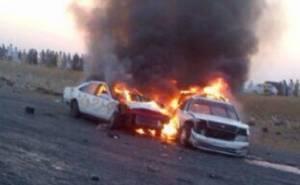احتراق سيارتين في عمان