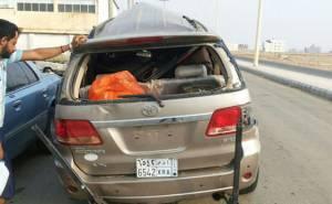 مصرع 3 واصابة 7 من نفس العائلة في حادث شنيع في السعودية-من الخلف