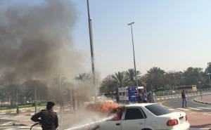 Toyota Corolla accident In Dubai