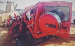 G63 AMG crash in Saudi Arabia موت سعودي في حادث