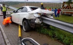 بي ام دبليو 335i تتعرض لحادث