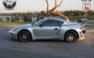 Porsche Cayman الفا 1 المعدلة عن بورش كايمان من الجنب