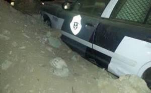 Toyota Hilux patrol police crash in Saudi Arabia