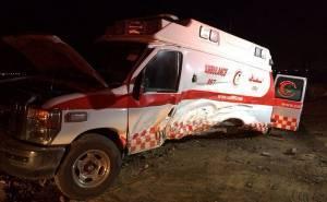 سيارة إسعاف تتعرض لحادث مروري