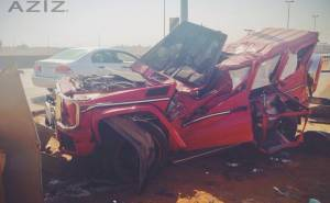 شاب سعودي يلقى مصرعه داخل مرسيدسG63 AMG