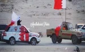 اعلام البحرين ترفرف فوق تويوتا شاص وسيارات أخرى