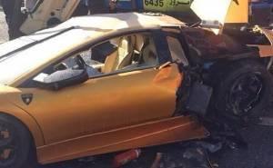 Lamborghini Murcielago accident in Kuwait