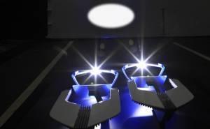 تبلغ قوة أضواء الليزر قرابة 170 شمعة، أي أكثر بـ 70 شمعة من أضواء LED