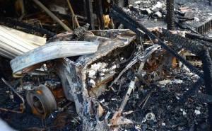 سيارة بنتلي بعد الحريق
