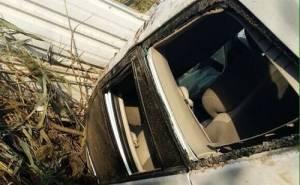 سيارة انوفا تتدهور بعد الحادث