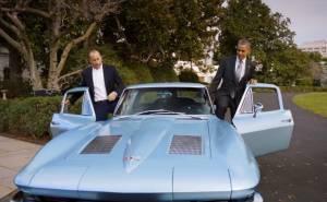 Barack obama chevrolet corvette