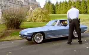 Barack obama drives chevrolet corvette