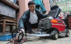 صيني يصنع اصغر سيارة في العالم