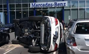 Mercedes GLE-حادث مرسيدس في امريكا