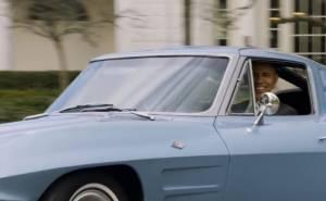 Obama in Classic Corvette