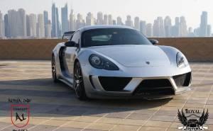 الفا 1 المعدلة عن بورش كايمان من الأمام Porsche Cayman