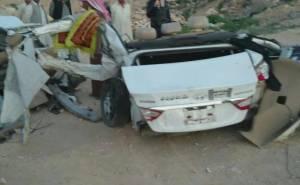 القسم الخلفي من السيارة بعد الحادث