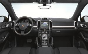 بورش كايين اس 2013-Porsche Cayenne S عجلة قيادة-جير-لوحة عدادات-مرايا