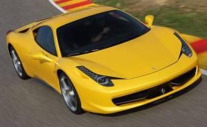 مقدمة فيراري 458 ايطاليا 2014 صفراء