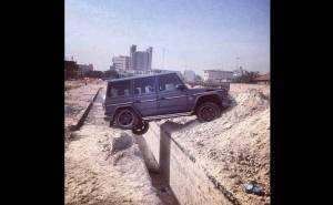 حادث جي كلاس مرسيدس في الكويت