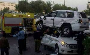دورية قطرية تتسبب في حادث
